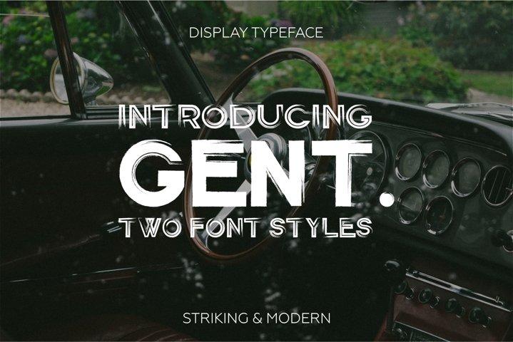 Gent. Display brushed typeface. Striking and modern.