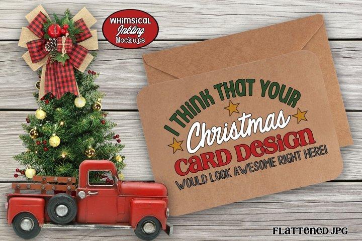 Kraft Christmas Card Mockup example
