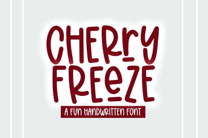 Cherry Freeze - A Quirky Handwritten Font