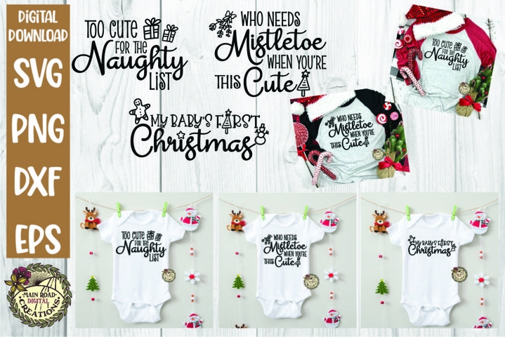 Christmas SVG Bundle-Baby-Kids-Adults-Babys First Christmas