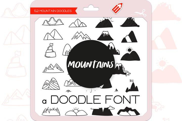 Mountain Doodles - Dingbats Font