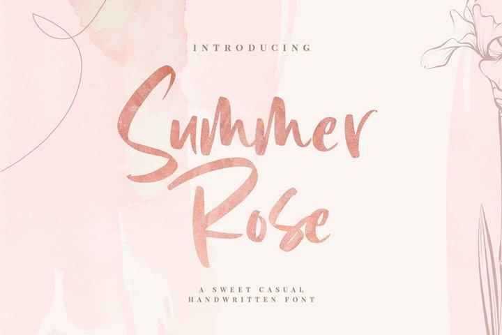 Summer Rose - Handwritten Font