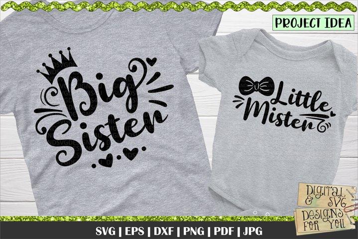 Big Sister | Little Mister | Matching shirt designs