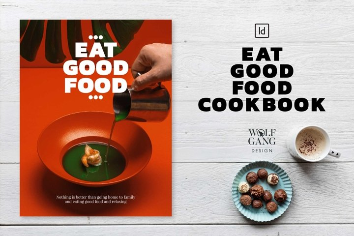 EAT GOOD FOOD Cookbook Template