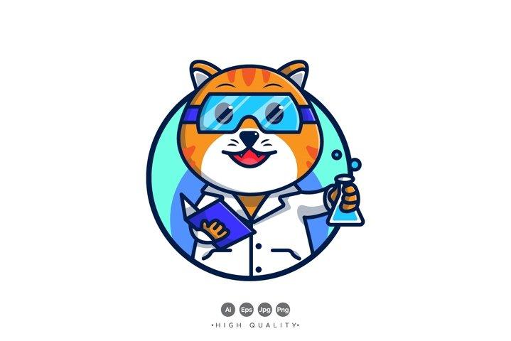 Professor Cat Vector