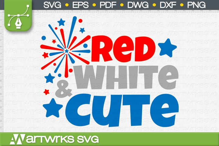 4th of july SVG files for Cricut | Red White and Cute