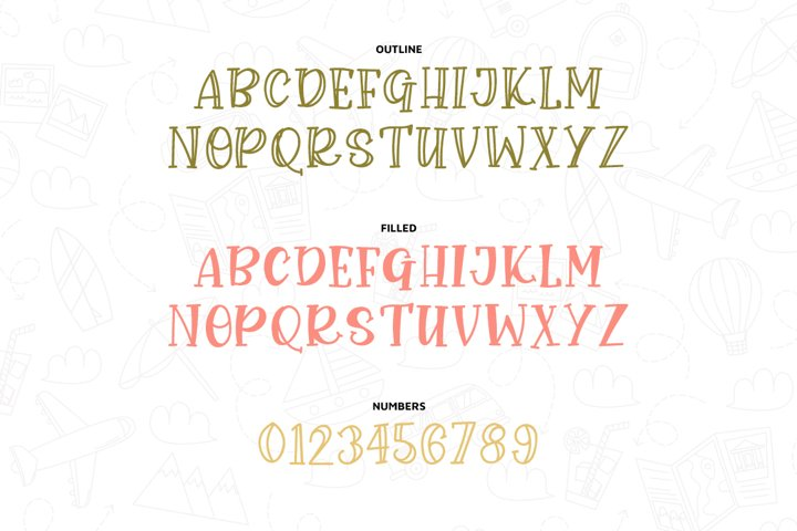 John Grey - a handwritten outline and filled font - Free Font Of The Week Design4