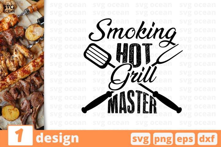 Smoking hot grill master SVG cut file, fork, spatula, BBQ