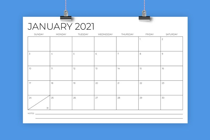 11 x 17 Inch Modern 2021 Calendar
