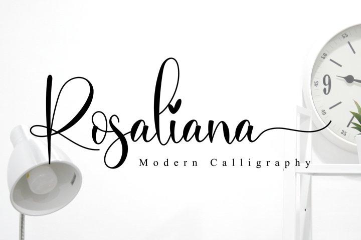 Rosaliana Script