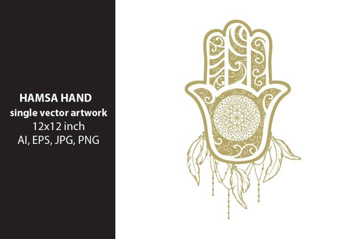 Hamsa Hand - single vector artwork