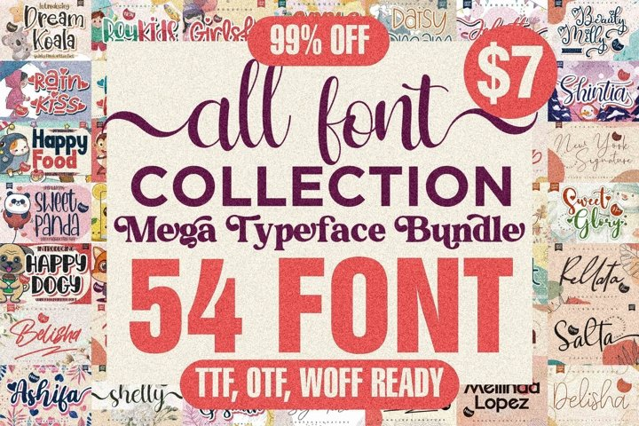 Awesome Fonts Collection - 54 Font From Letterena Studios
