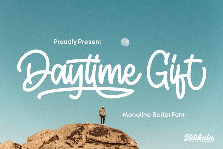Daytime Gift Monoline Script Font