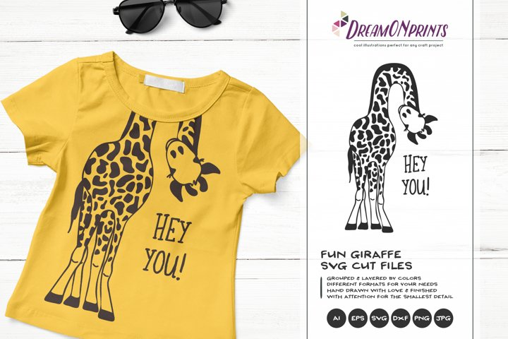 Hey YOU | Fun Giraffe SVG | Funny Giraffe Illustration