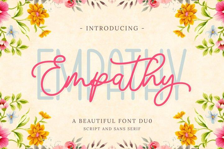 Empathy | Beautiful Font Duo