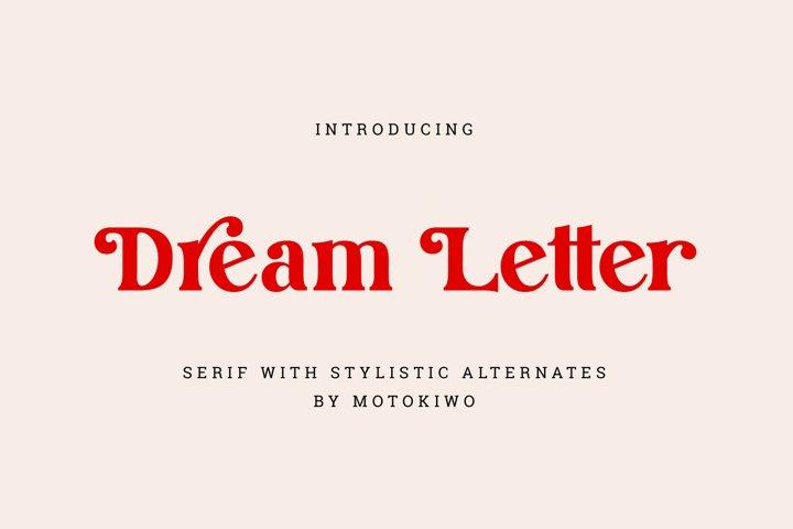 Dream Letter, Display Serif Font