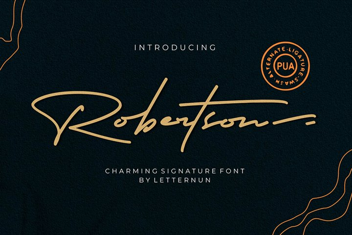Robertson  Charming Signature Font