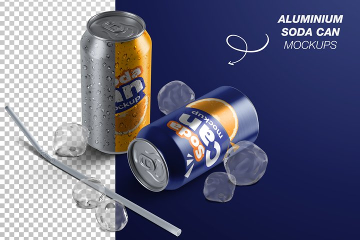 Aluminium Soda Can Mockup Bundle
