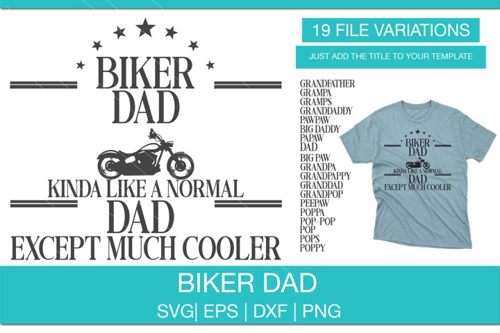 Biker Dad SVG, Cool Dad SVG Bundle