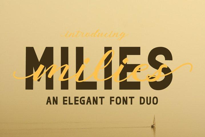 milies   an elegant font duo