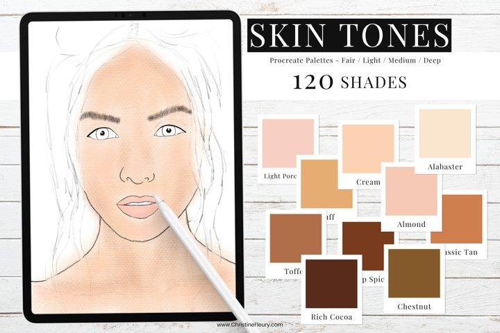 Procreate Color Palette - Skin Tones