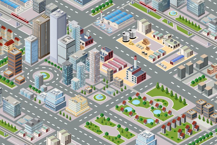 Big isometric city