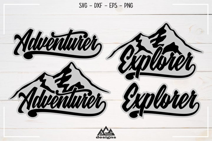 Adventurer Explorer Typography Svg Design