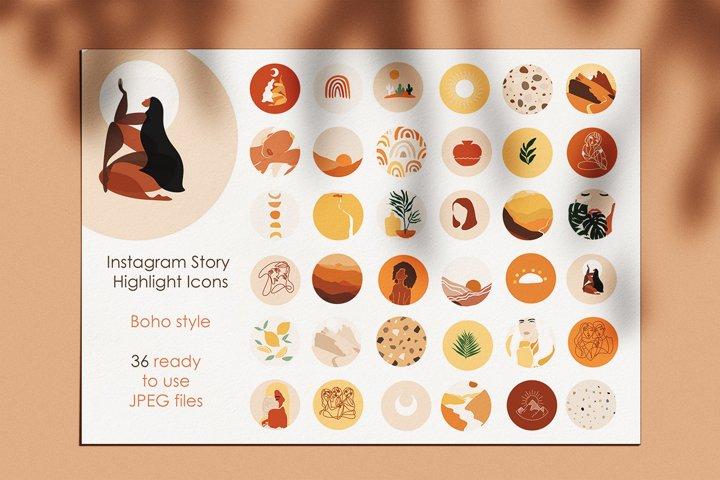 boho instagram story highlight icons. boho icons