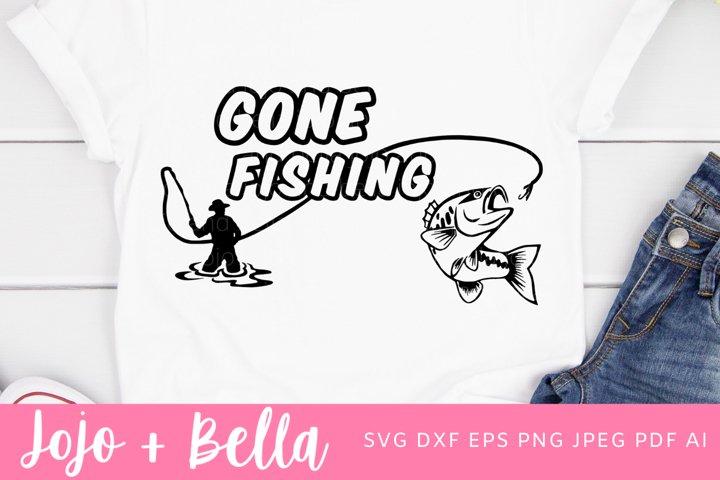 Gone Fishing Svg | Dad Svg