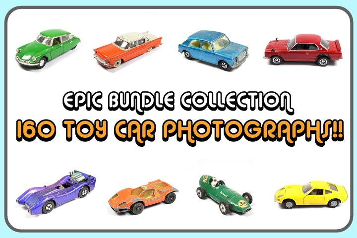 160 Photographs Toy Cars On White Background! Mega Bundle!