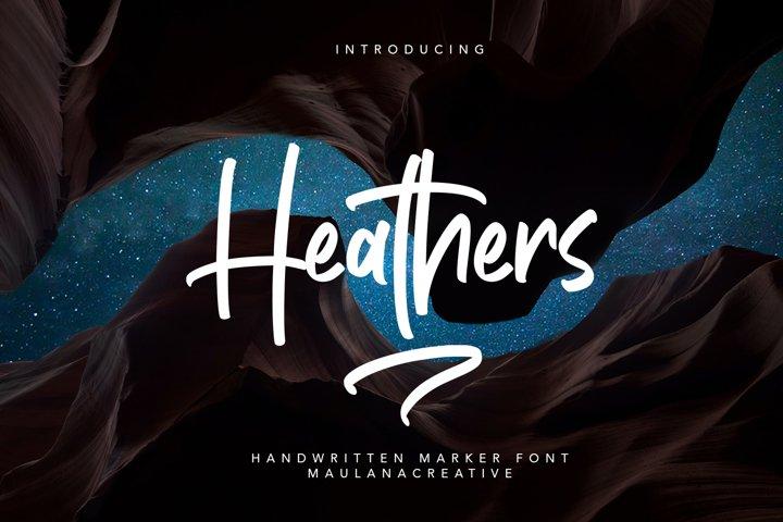 Heathers Handwritten Brush Font