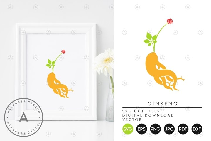 Ginseng Root SVG