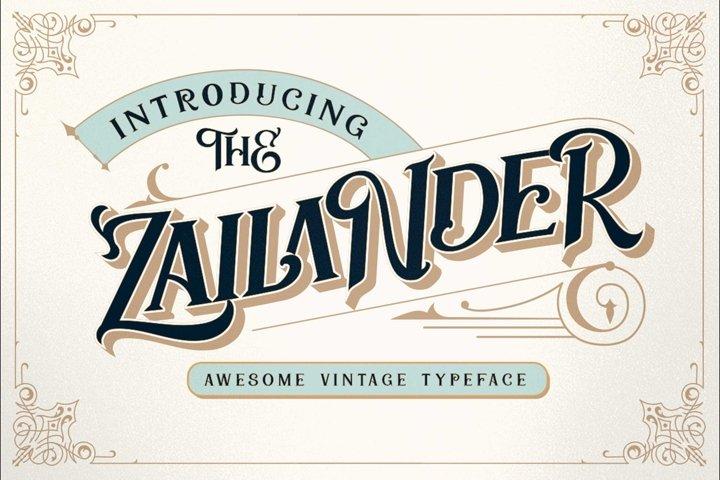 Zailander - Vectorian Vintage Typeface