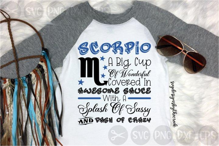 Scorpio, Birth Sign, Traits, Zodiac, Cut File, PNG, SVG