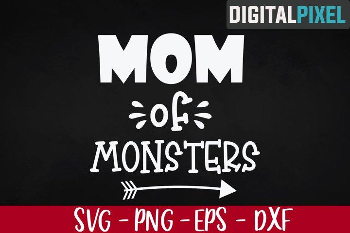 Mom of Monsters Svg, Halloween Svg, Mom Halloween Svg