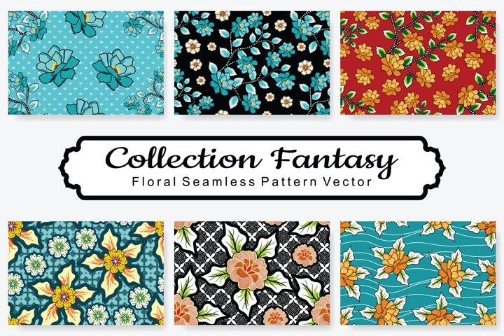 Set Of Fantasy Floral Vector Pattern Vol.18