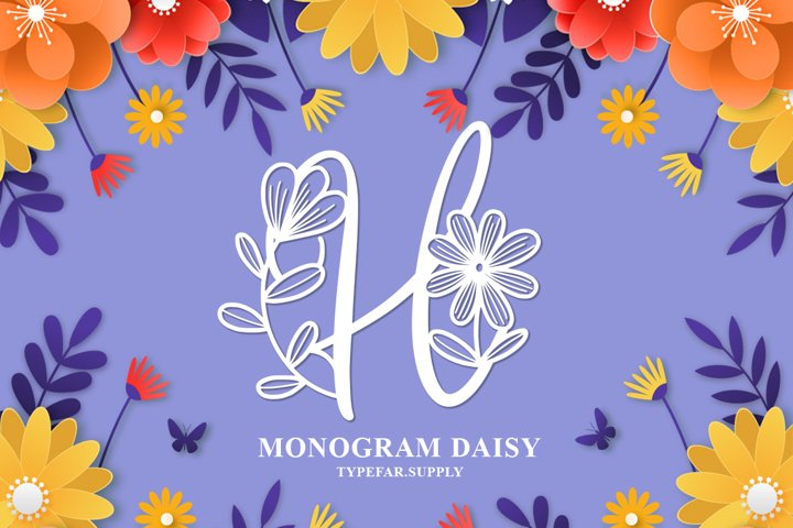 Monogram Daishy - Free Font Of The Week