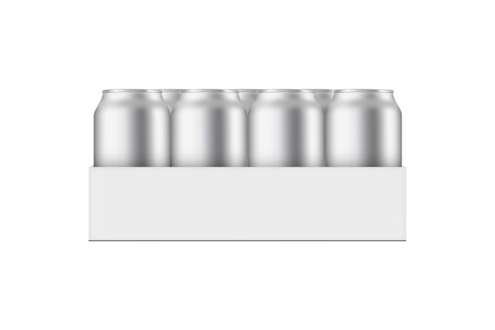 Pack With Aluminium Cans 330 ml Mockup
