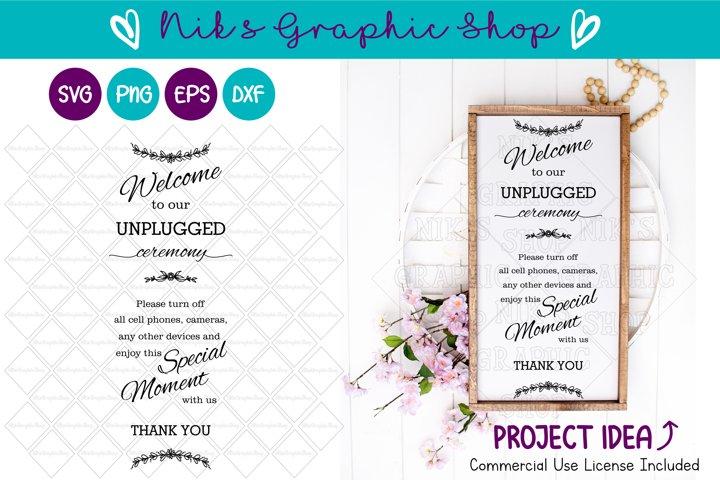 Unplugged Ceremony SVG, Unplugged SVG, Ceremony SVG, Wedding