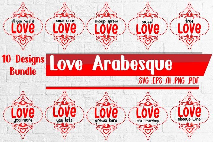 Love Arabesque bundle svg eps ai png pdf