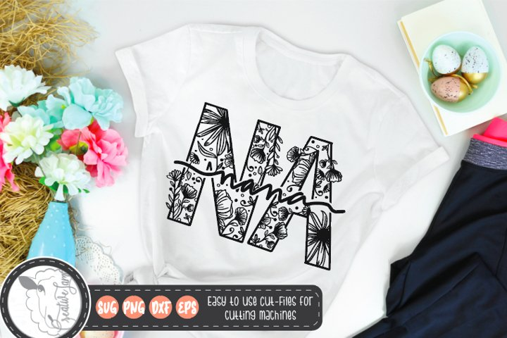 Mothers day svg|Nana svg|Floral Svg
