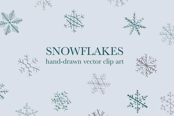 Snowflake / Winter / Holiday / Vector / Clip art