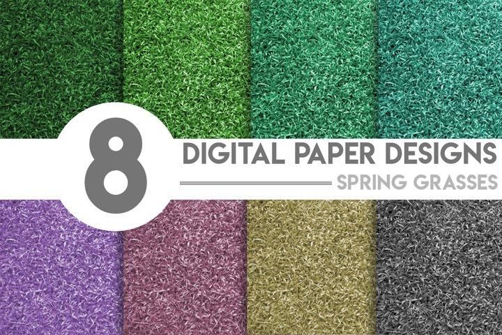 Spring Grasses Digital Paper Bundle