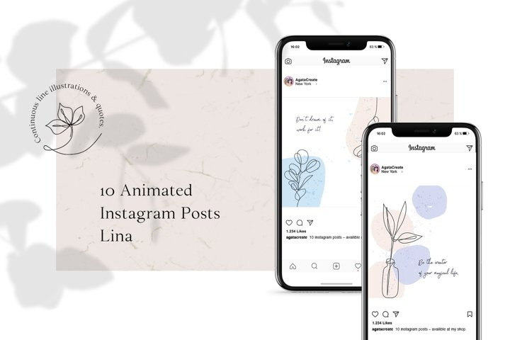 ANIMATED Instagram Posts - Lina