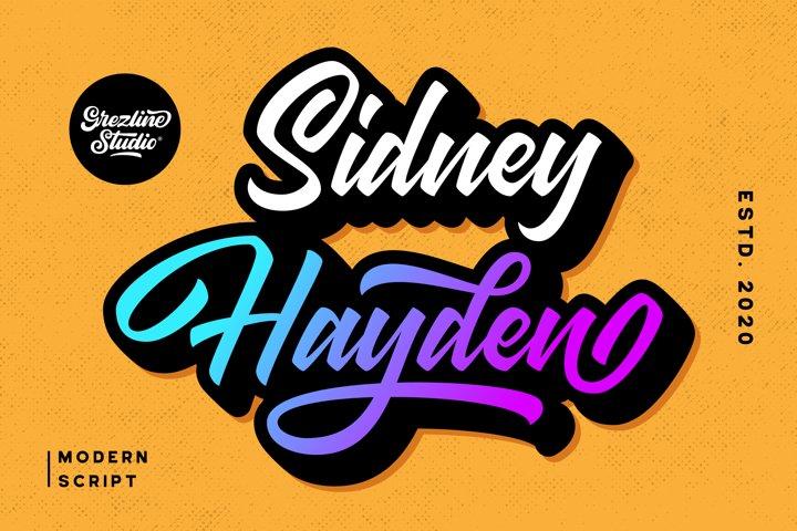 Sidney Hayden - Modern Script Font