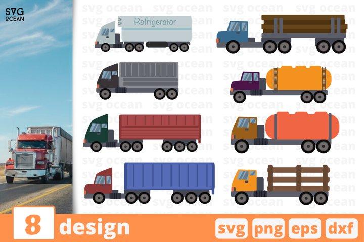 8 TRUCKS SVG BUNDLE | Truck svg | Vehicle cricut | Car svg