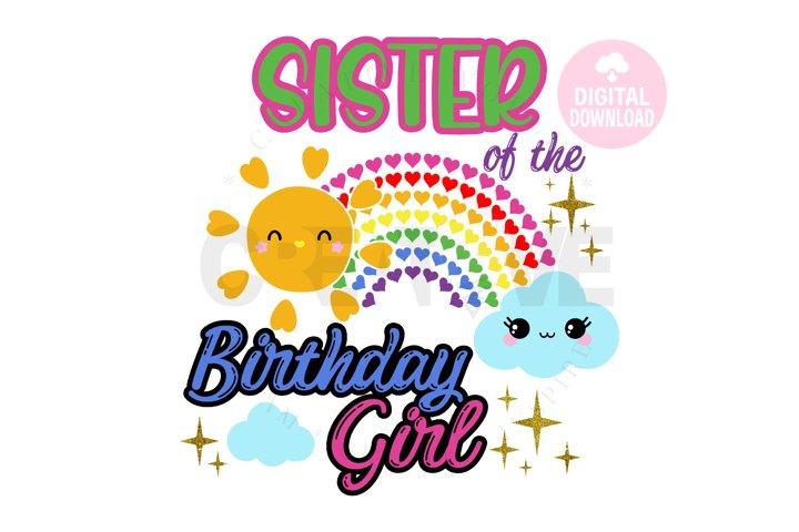 Sister of the Rainbow Birthday Girl svg |Rainbow Birthday