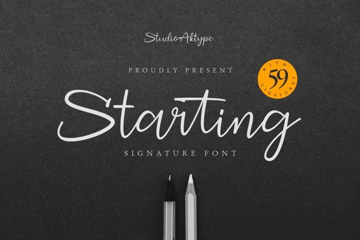 Starting Signature