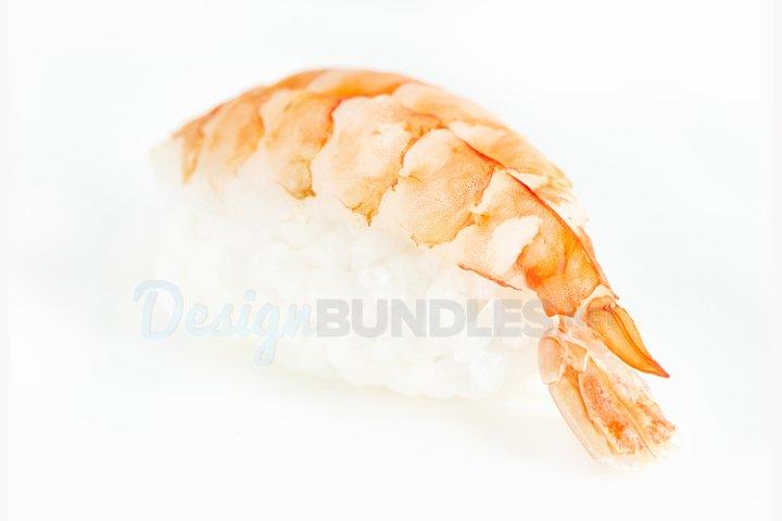 Sushi nigiri with shrimp