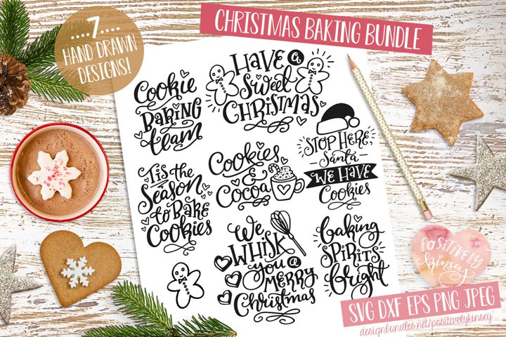 Christmas Baking SVG Bundle! 7 Cute Holiday Quote Designs
